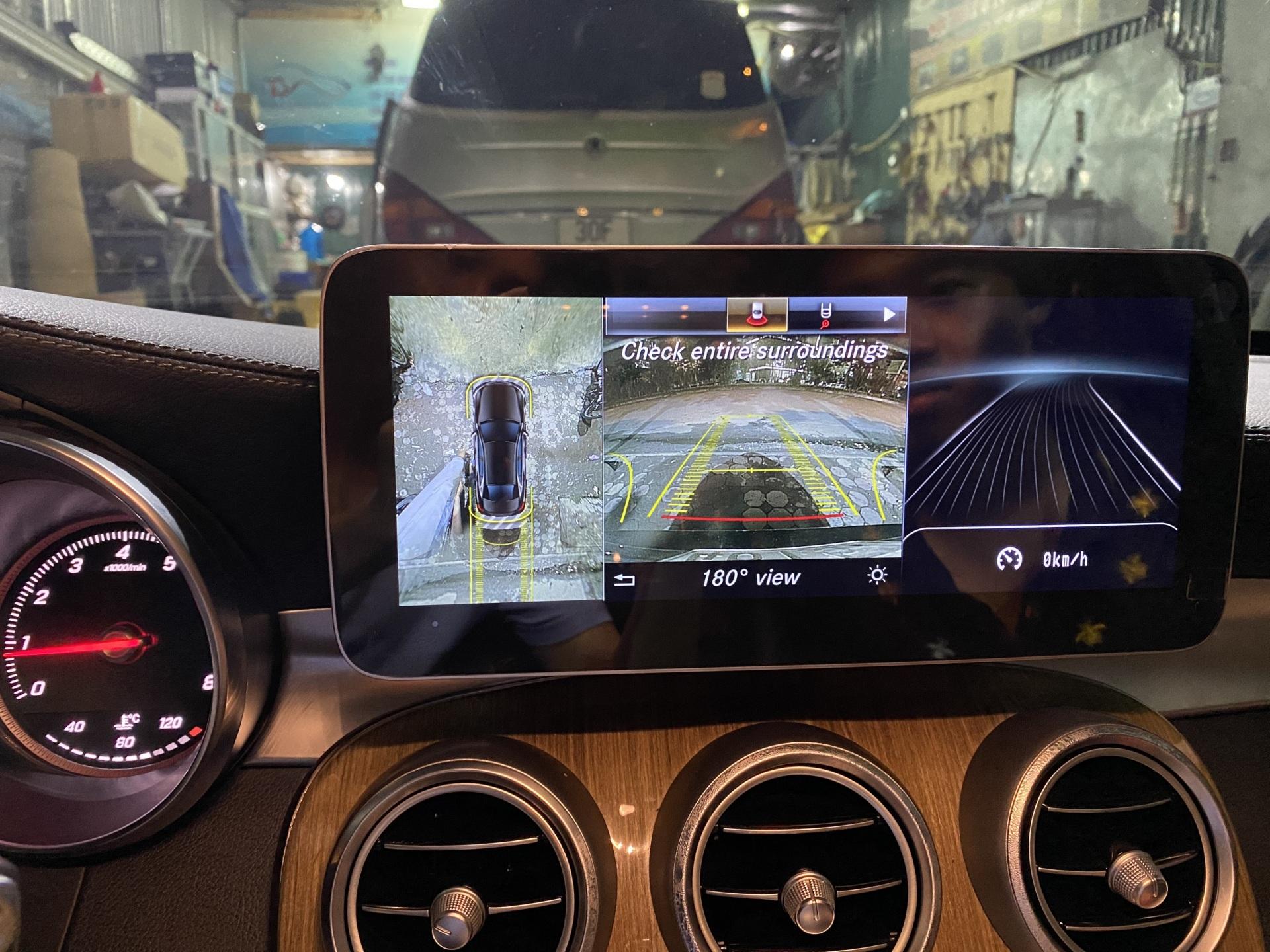 man hinh android Benz GLC